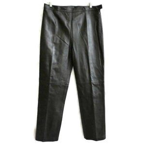 Vintage 90s Clio Leather Pant Straight High Waist